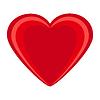 Векторный клипарт: Сердце красное