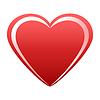 Векторный клипарт: Сердце красное с белым моменты
