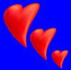 Векторный клипарт: Сердце на синем фоне