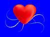 Векторный клипарт: Сердце красного цвета водоворот
