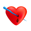 Векторный клипарт: Сердце с сосулька