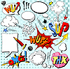 Vector clipart: Comic book explosion