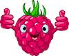 Vector clipart: Cheerful Cartoon Raspberry character