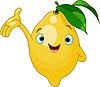 Vector clipart: Cheerful Cartoon Lemon character