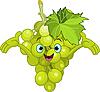 Vector clipart: Cheerful Cartoon Grape character