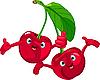 Vector clipart: Cheerful Cartoon Cherries character
