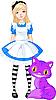 Vector clipart: Alice in Wonderland