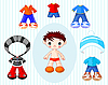 Vector clipart: Boy with clothes