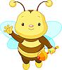 Vector clipart: Cute baby Bee