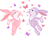 Valentine bunnies | Stock Vector Graphics