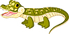 Vector clipart: Baby crocodile