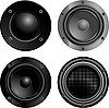 Vector clipart: Sound speakers