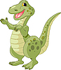 Vector clipart: Cute dinosaur