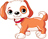 Vector clipart: Cute Puppy walking