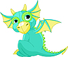 Vector clipart: Cartoon baby dragon