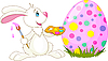 Vector clipart: Cute Bunny and Easter Egg