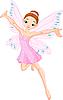Vector clipart: Cute pink fairy