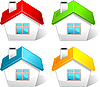 Vector clipart: Colored house icons