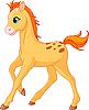 Vector clipart: Cute Horse foal running