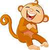Vector clipart: Laughing monkey
