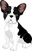 Vector clipart: French bulldog