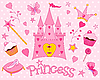 Vector clipart: Princess Set