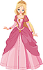 Vector clipart: Beautiful princess