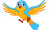 Vector clipart: Flying bird