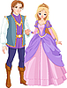 Vector clipart: Beautiful prince and princess