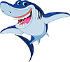 Vector clipart: Cartoon funny shark