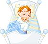 Vector clipart: Little boy sleeping
