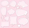 Vector clipart: Cute speech bubbles