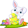 Vector clipart: Easter. Bunny with Easter Egg