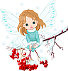 Winter Baby Fairy | Stock Vector Graphics