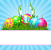 Easter eggs karta | Stock Vector Graphics