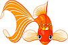 Vector clipart: Cartoon Goldfish queen