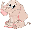 Vector clipart: Cute Baby elephant