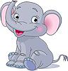 Baby Elephant | Ilustración vectorial