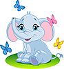 Baby elephant | Stock Vector Graphics