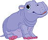 Vector clipart: Cartoon baby Hippo boy