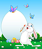 Vector clipart: painter bunny