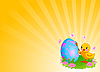 ID 3199642 | Chicken Painting Easter Egg Background | 벡터 클립 아트 | CLIPARTO