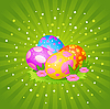 Vector clipart: Beautiful Easter eggs background