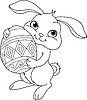 Vector clipart: Easter bunny. Coloring page