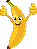 Vector clipart: Cheerful Cartoon banana character
