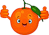 Vector clipart: Cheerful Cartoon Orange character