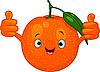 Векторный клипарт: Веселый мультяшный оранжевый символ