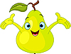 Vector clipart: Cheerful Cartoon Pear character