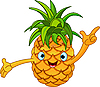 Vector clipart: Cheerful Cartoon Pineapple character