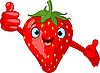 Vector clipart: Cheerful Cartoon Strawberry character